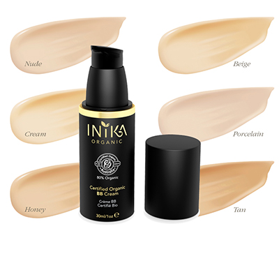 INIKA Organic Certified Organic BB Cream, Nude, 30 ml