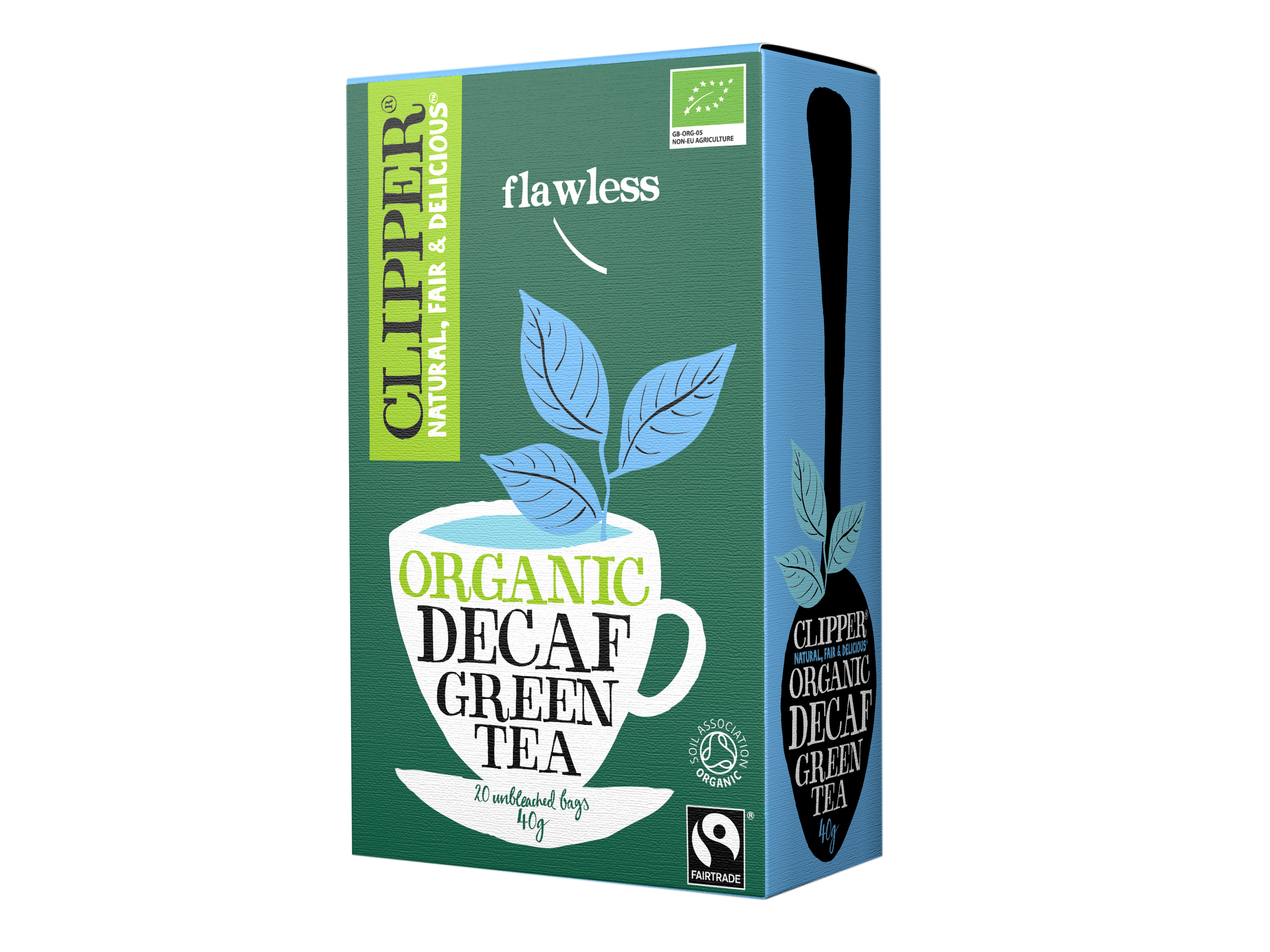 Clipper Decaf Green Tea, 20 poser økologisk te