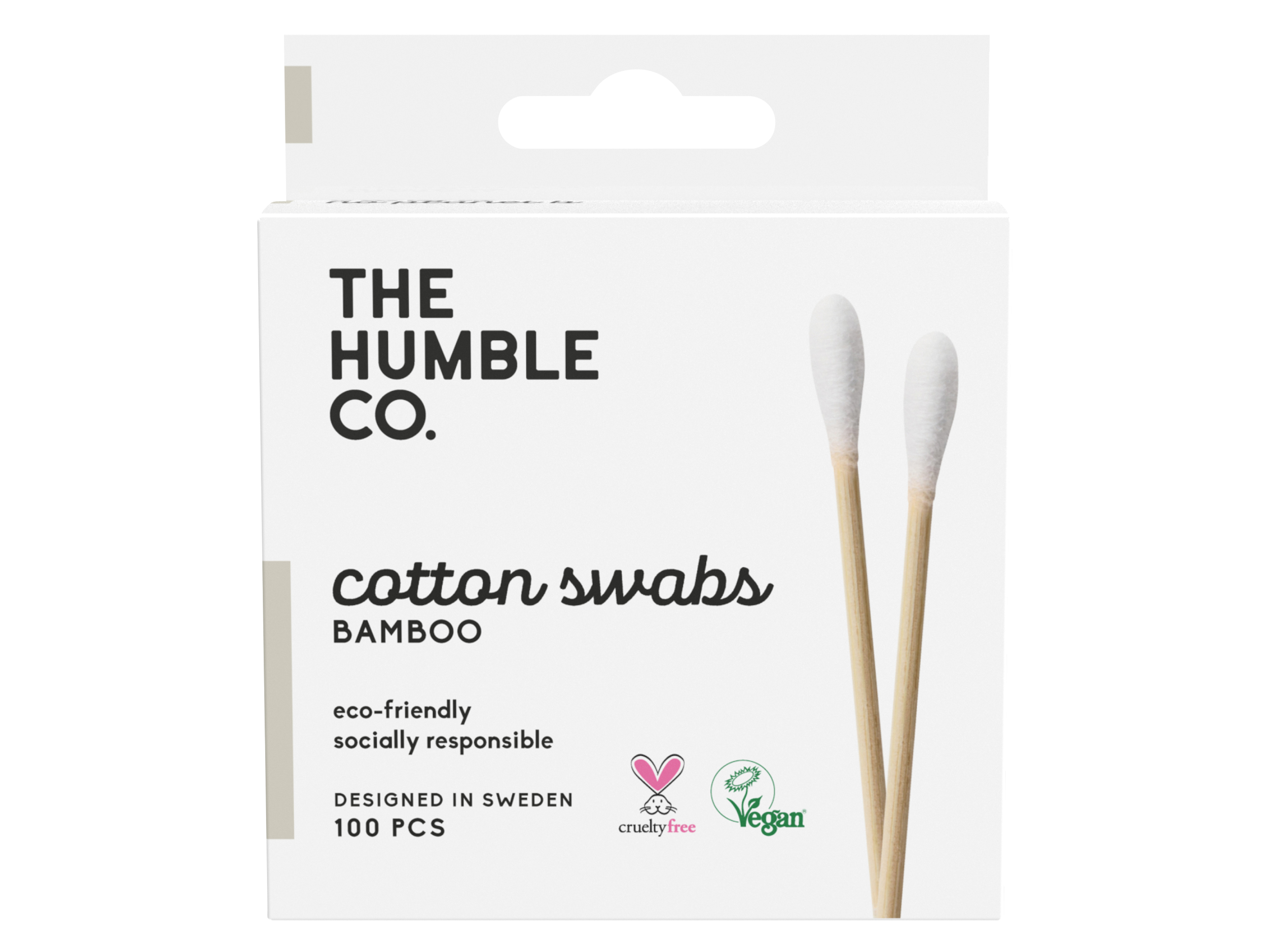 Humble Natural Cotton Swabs White, 100 stk