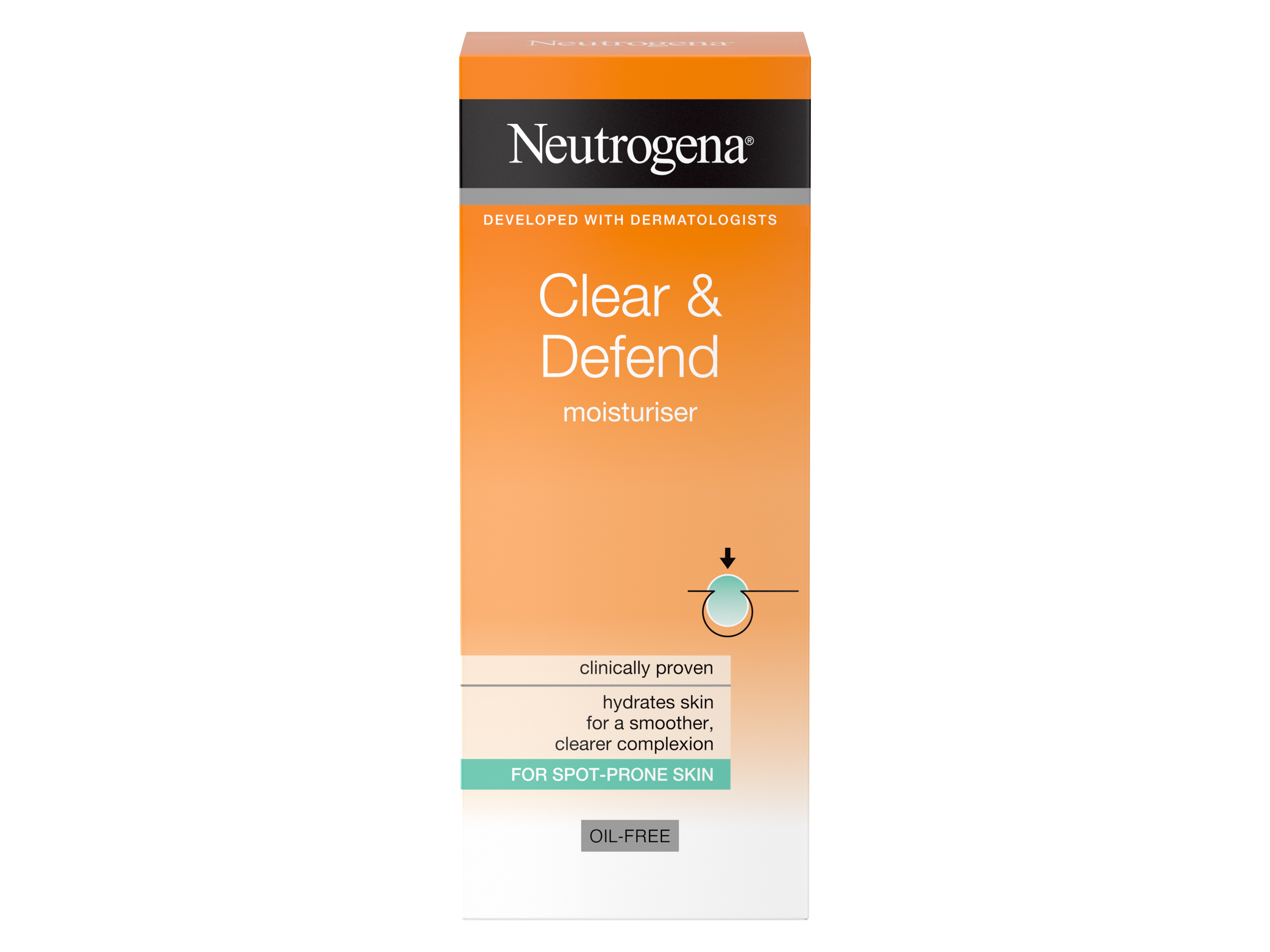 Neutrogena Clear & Defend Moisturiser 50 ml, 50 ml