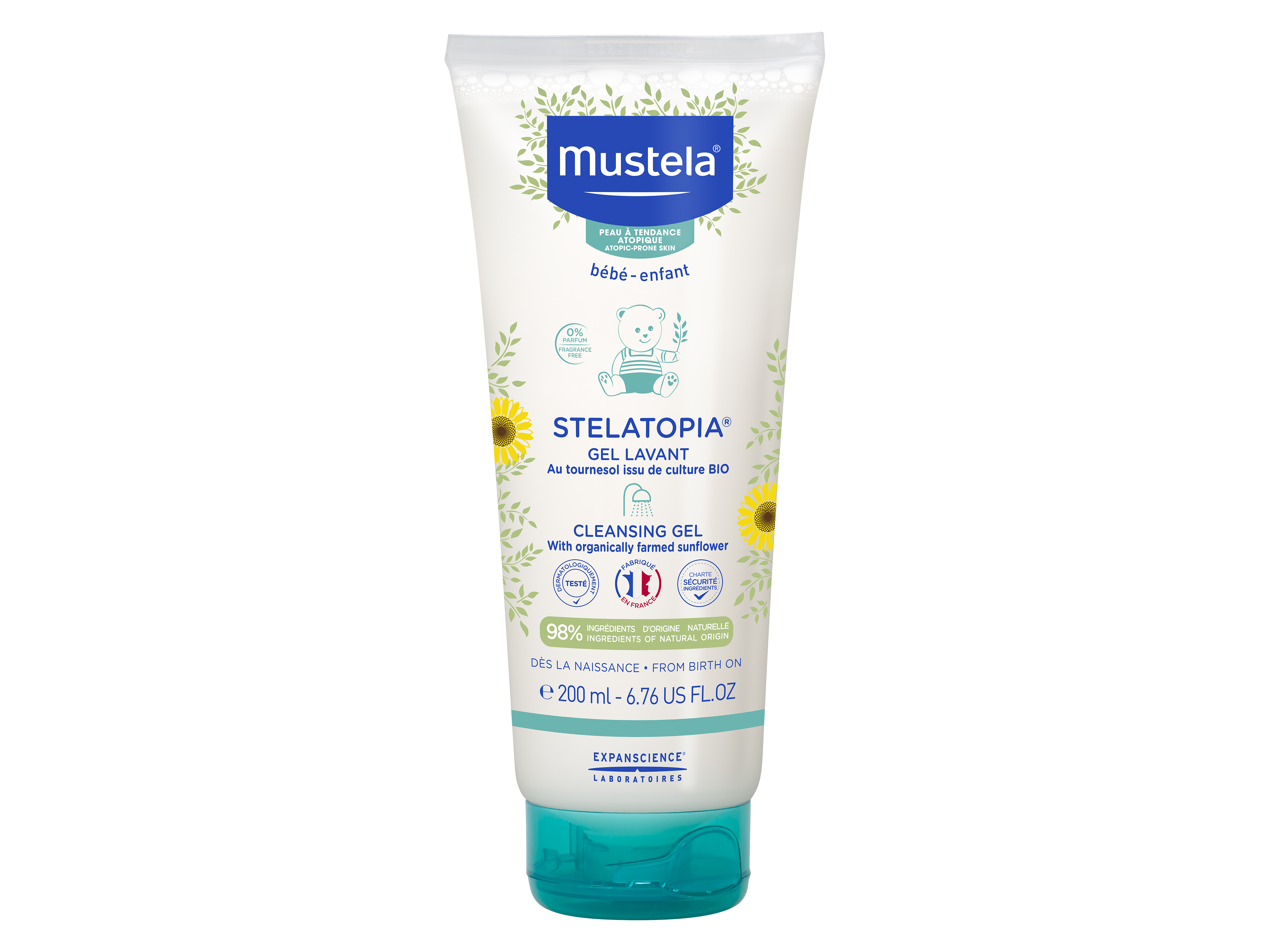 Mustela Stelatopia Cleansing Gel, 200 ml