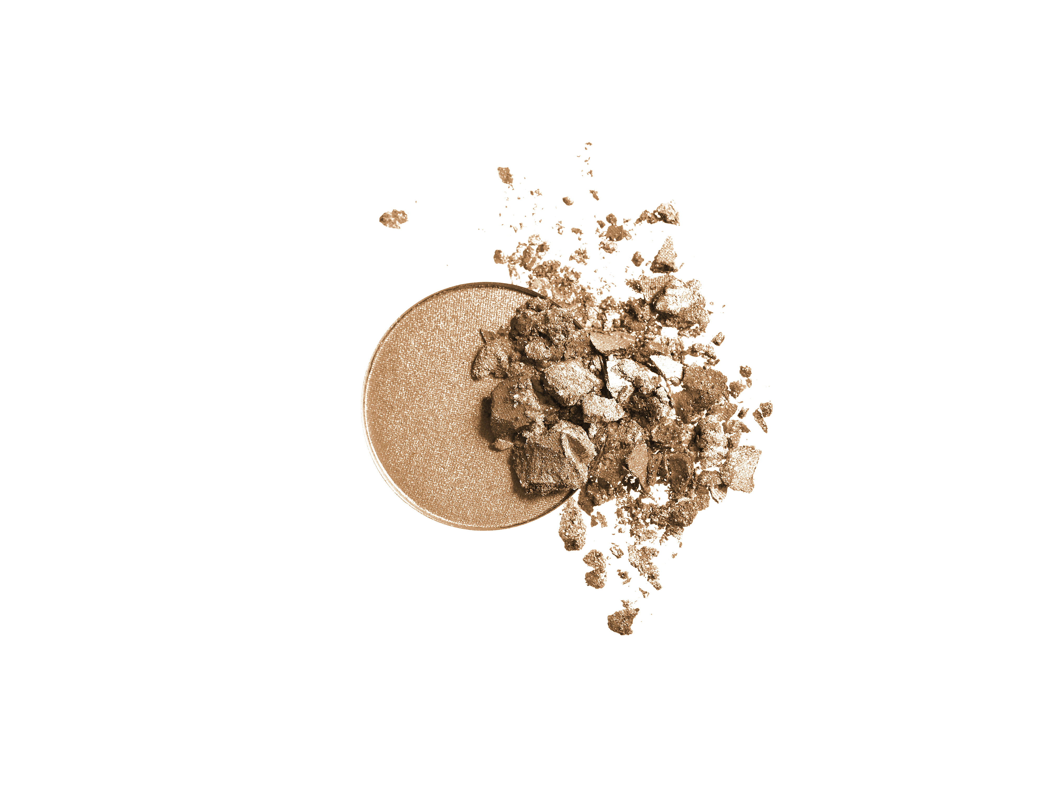 INIKA Organic Pressed Mineral Eye Shadow Duo, Gold Oyster, 3,9 gram