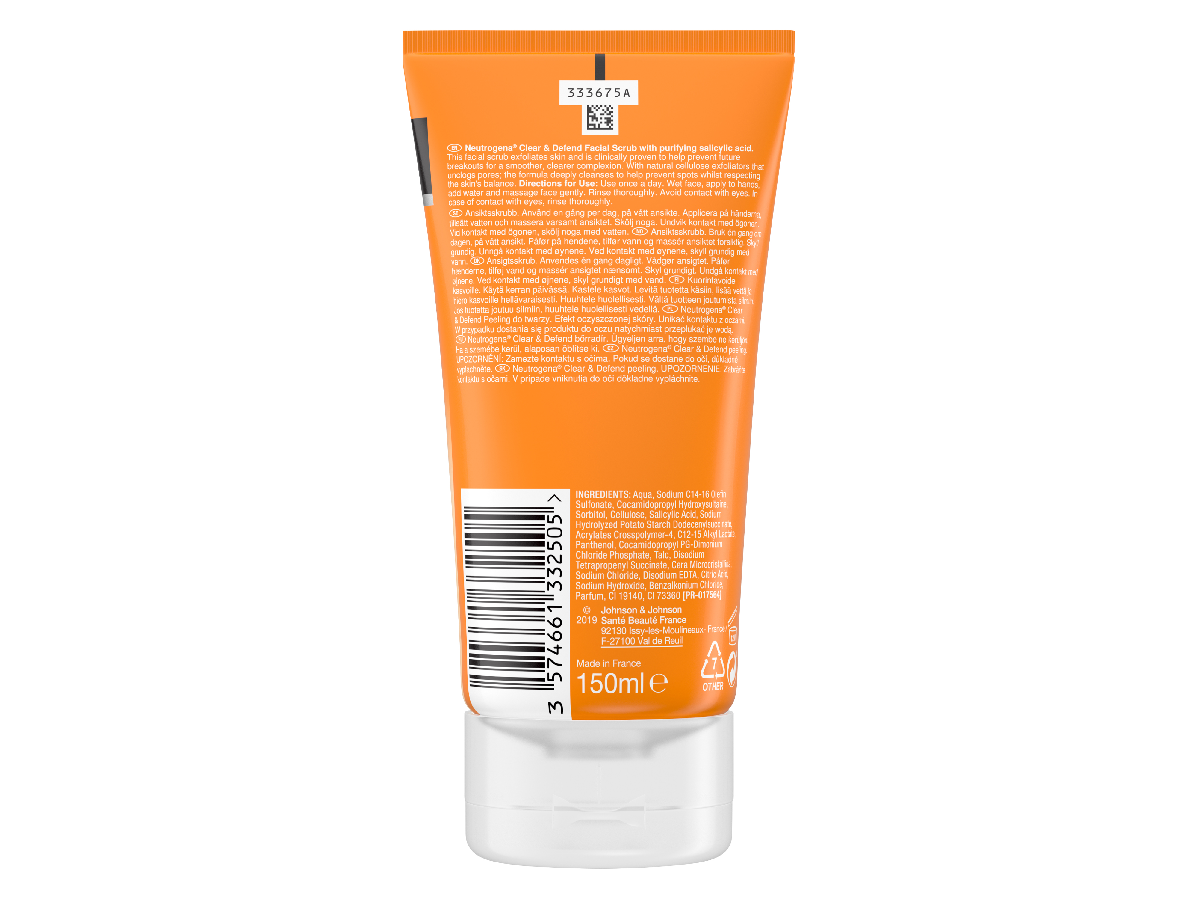 Neutrogena Clear & Defend Daily Facial Scrub, 150 ml