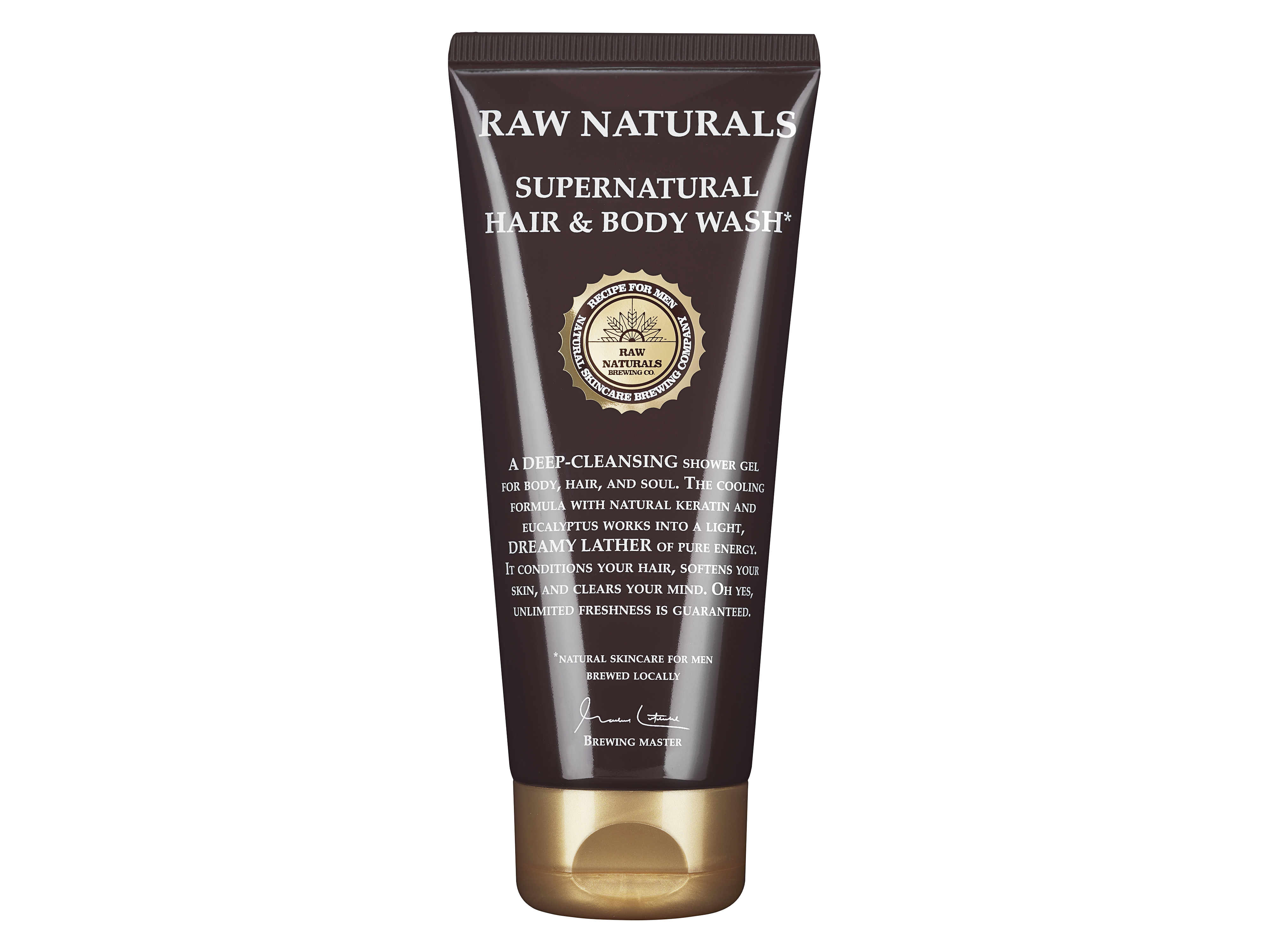 RAW Naturals 3 in 1 Supernatural Hair & Body Wash, 200 ml