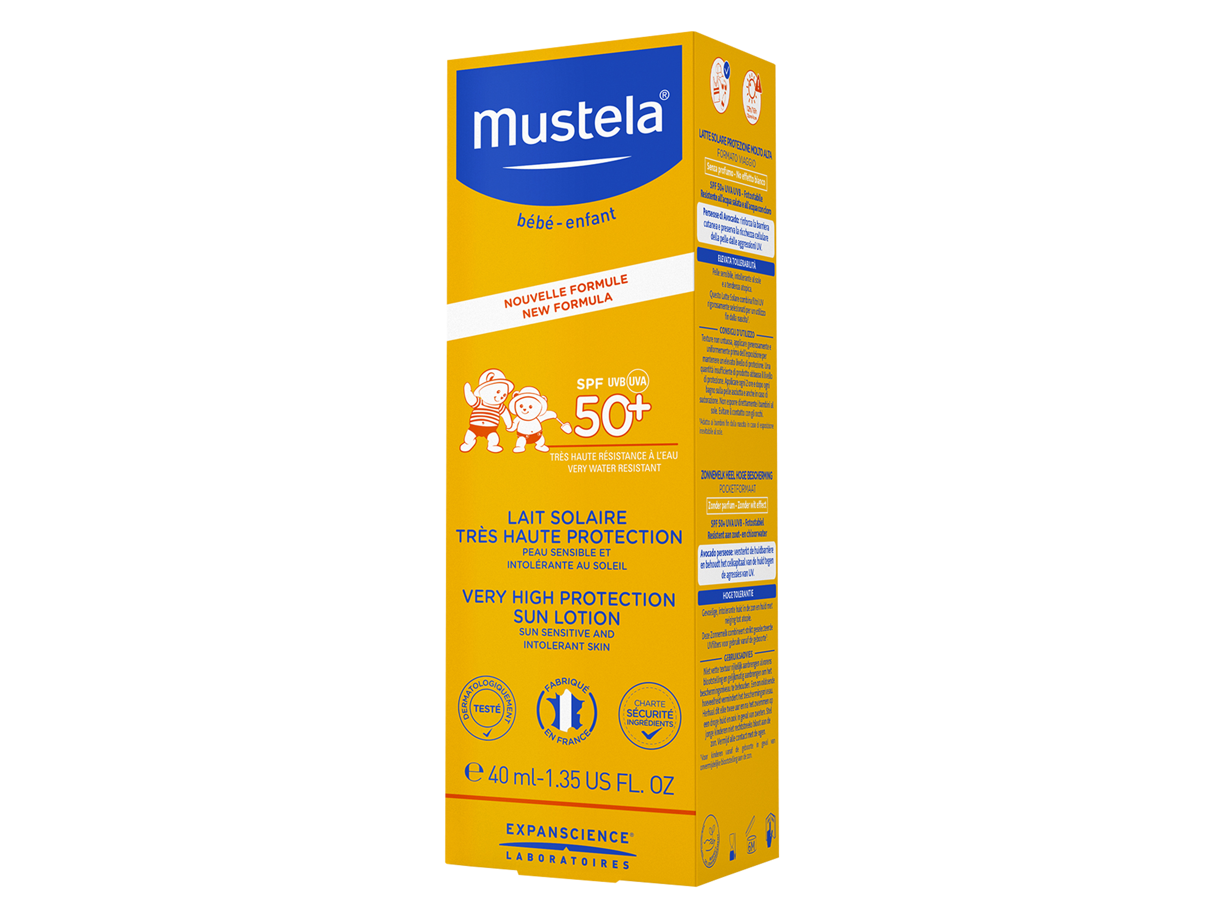Mustela Very High Protection Face Sun Lotion SPF50+, 40 ml