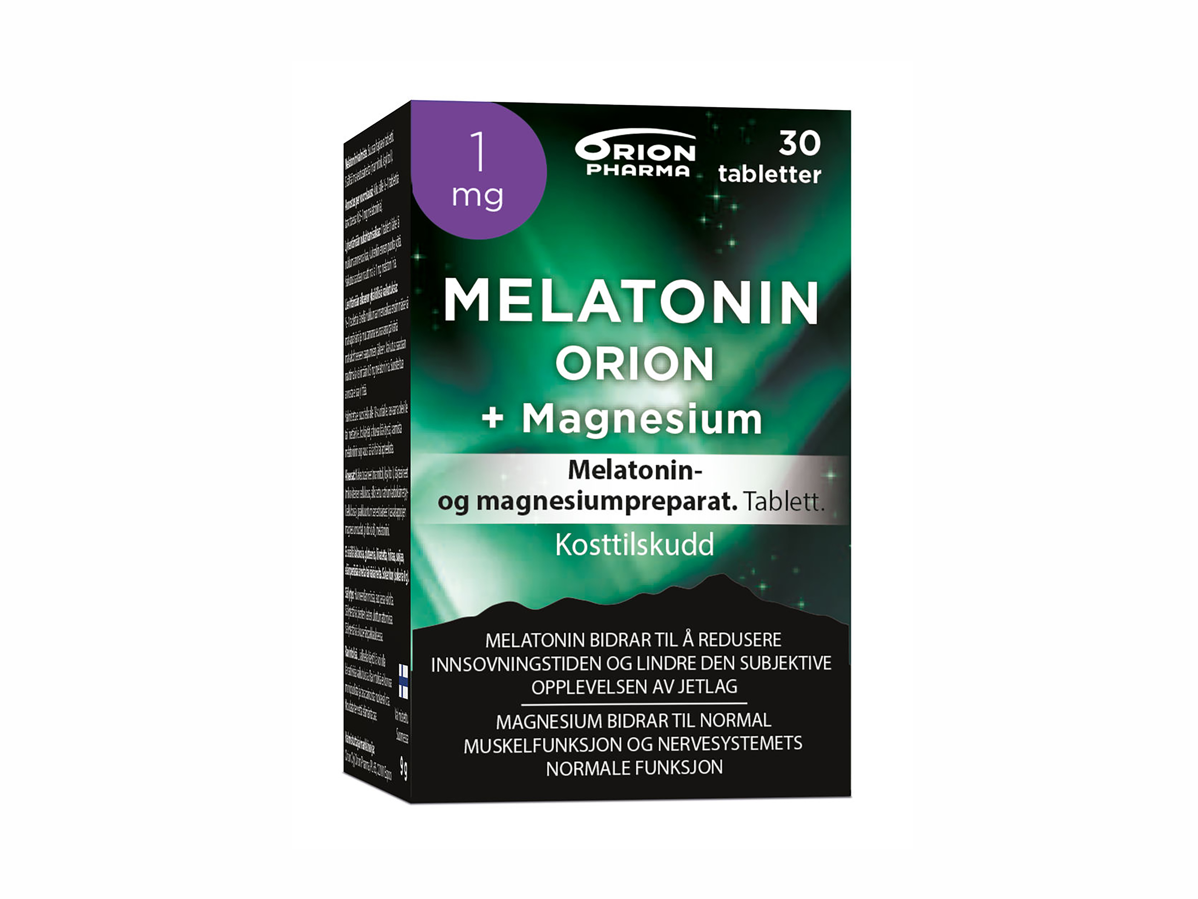 Melatonin Orion Melatonin 1mg + Magnesium, 30 stk