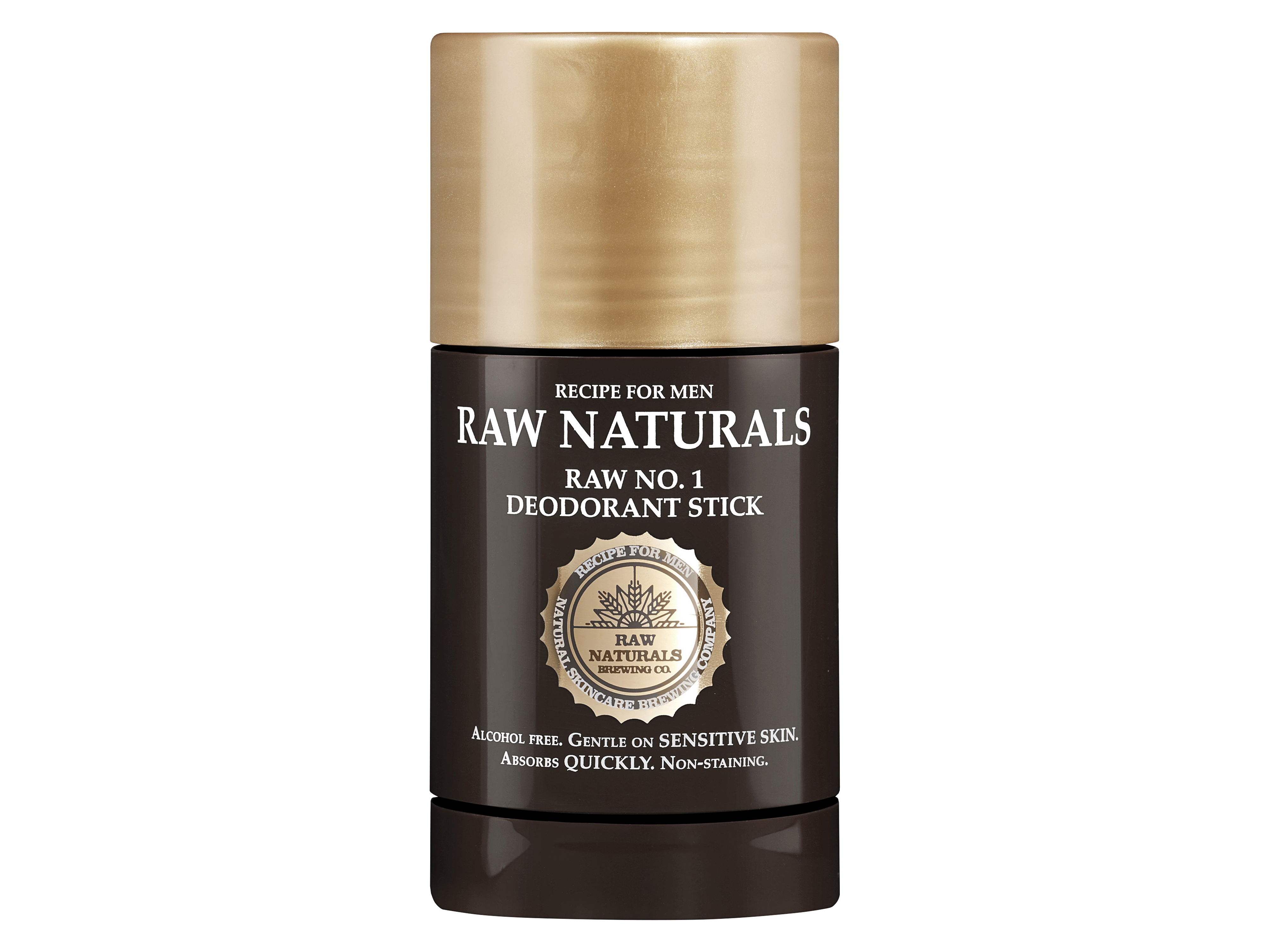 RAW Naturals No 1 Deodorant Stick, Deostick til herre, 75 ml