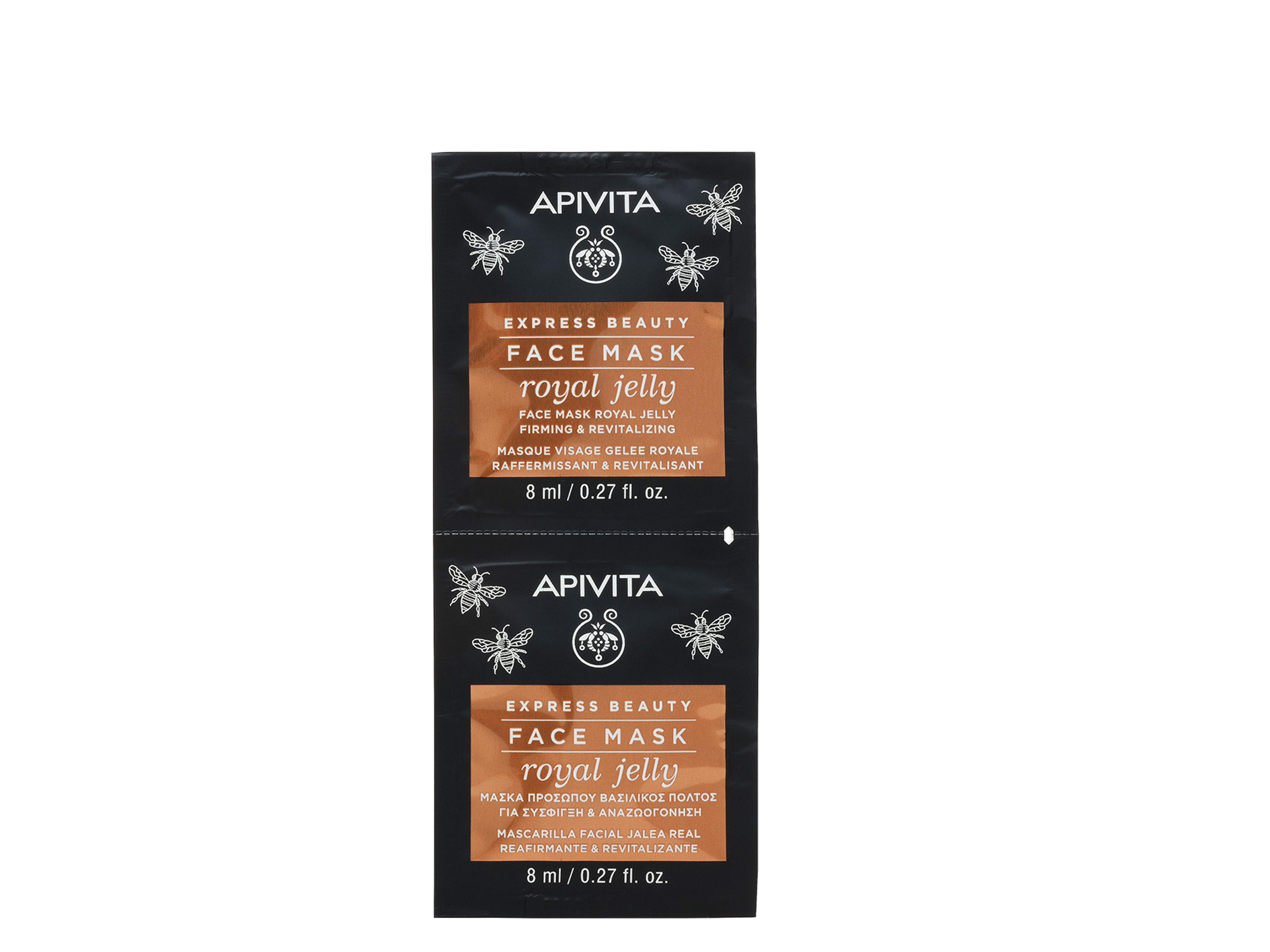 Apivita Express Beauty Face Mask Royal Jelly, 2 x 8 ml
