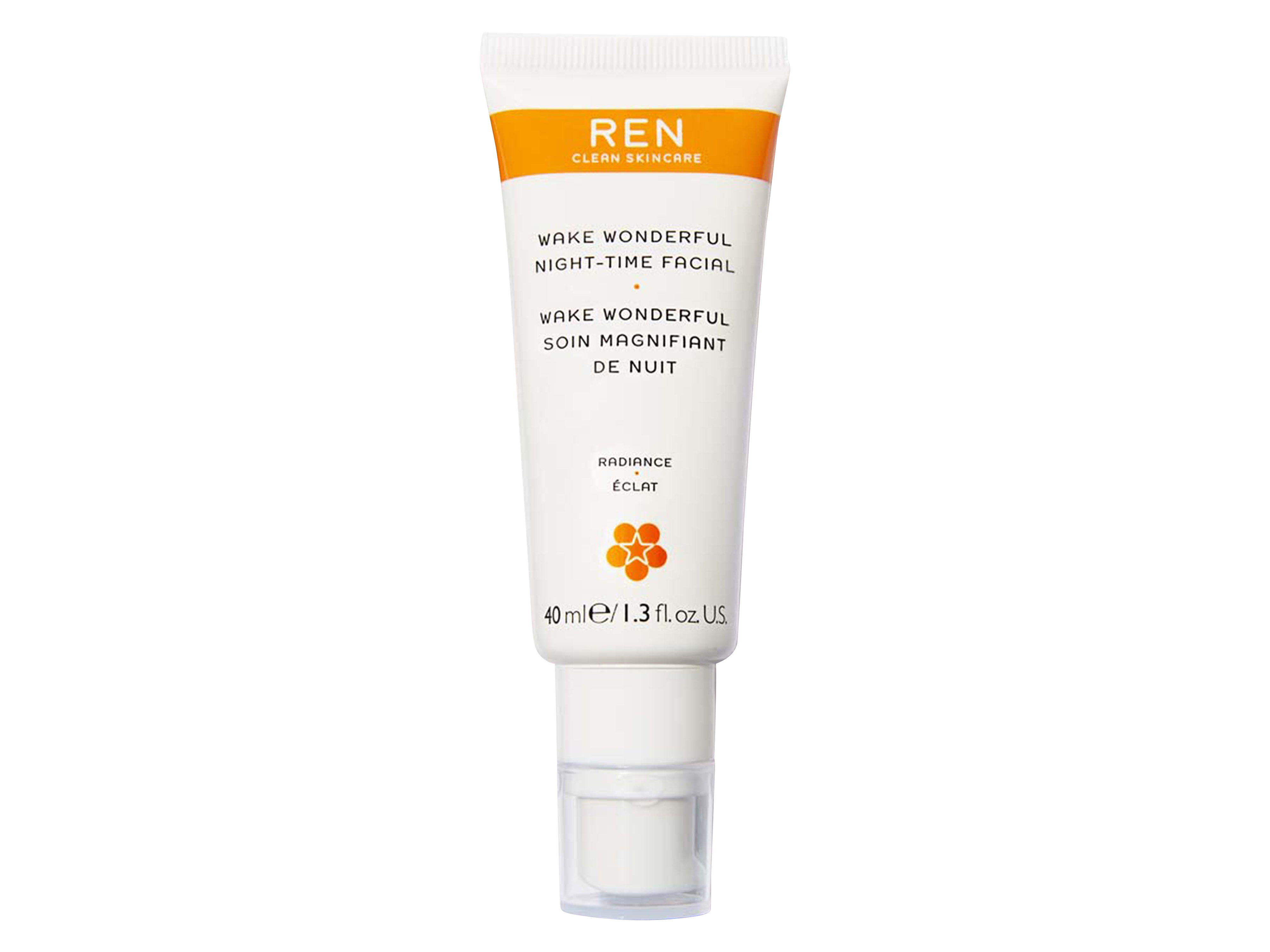 REN Wake Wonderful Night-Time Facial, 40 ml